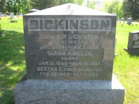 DICKINSON (CW), SIDNEY W. - Wyoming County, Pennsylvania | SIDNEY W. DICKINSON (CW) - Pennsylvania Gravestone Photos