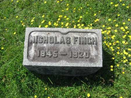 FINCH, NICHOLAS - Wyoming County, Pennsylvania | NICHOLAS FINCH - Pennsylvania Gravestone Photos