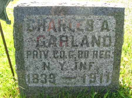 GARLAND (CW), CHARLES A. - Wyoming County, Pennsylvania | CHARLES A. GARLAND (CW) - Pennsylvania Gravestone Photos