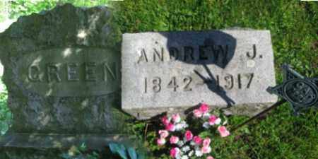 GREEN, ANDREW J. - Wyoming County, Pennsylvania | ANDREW J. GREEN - Pennsylvania Gravestone Photos