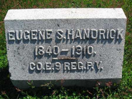 HANDRICK (HENDRICK) (CW), EUGENE S. - Wyoming County, Pennsylvania | EUGENE S. HANDRICK (HENDRICK) (CW) - Pennsylvania Gravestone Photos
