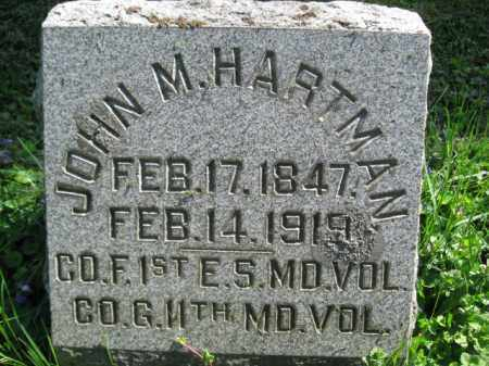 HARTMAN (CW), JOHN M. - Wyoming County, Pennsylvania | JOHN M. HARTMAN (CW) - Pennsylvania Gravestone Photos