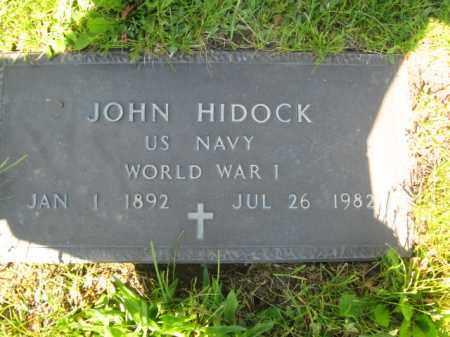 HIDOCK (WW I), JOHN - Wyoming County, Pennsylvania | JOHN HIDOCK (WW I) - Pennsylvania Gravestone Photos