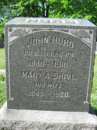 HURD (CW), JOHN - Wyoming County, Pennsylvania | JOHN HURD (CW) - Pennsylvania Gravestone Photos