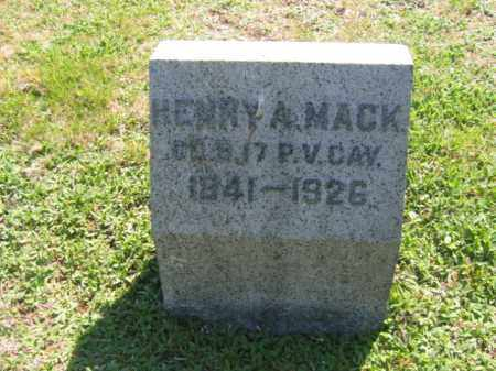 MACK (CW), HENRY A. - Wyoming County, Pennsylvania   HENRY A. MACK (CW) - Pennsylvania Gravestone Photos