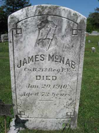 MCNAB (MCNABB) (CW), JAMES - Wyoming County, Pennsylvania | JAMES MCNAB (MCNABB) (CW) - Pennsylvania Gravestone Photos
