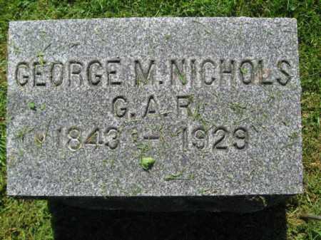 NICHOLS (CW), GEORGE M. - Wyoming County, Pennsylvania | GEORGE M. NICHOLS (CW) - Pennsylvania Gravestone Photos