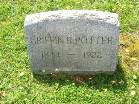 POTTER, GRIFFIN R. - Wyoming County, Pennsylvania | GRIFFIN R. POTTER - Pennsylvania Gravestone Photos