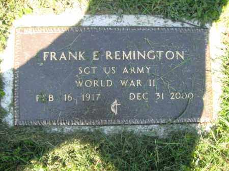 REMINGTON (WW II), FRANK E. - Wyoming County, Pennsylvania | FRANK E. REMINGTON (WW II) - Pennsylvania Gravestone Photos