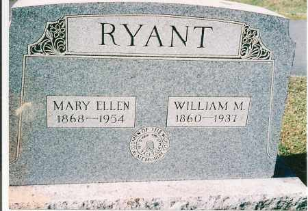 RYANT, WILLIAM MILTON - Wyoming County, Pennsylvania | WILLIAM MILTON RYANT - Pennsylvania Gravestone Photos