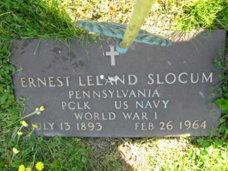 SLOCUM (WW I), ERNEST LELAND - Wyoming County, Pennsylvania | ERNEST LELAND SLOCUM (WW I) - Pennsylvania Gravestone Photos