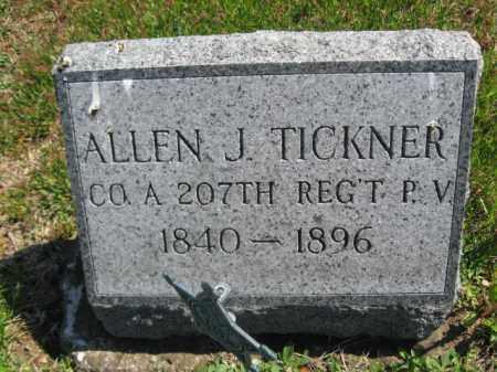 TICKNER (CW), ALLEN J. - Wyoming County, Pennsylvania | ALLEN J. TICKNER (CW) - Pennsylvania Gravestone Photos