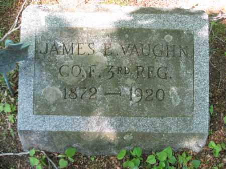 VAUGHN (SAW), JAMES E. - Wyoming County, Pennsylvania | JAMES E. VAUGHN (SAW) - Pennsylvania Gravestone Photos