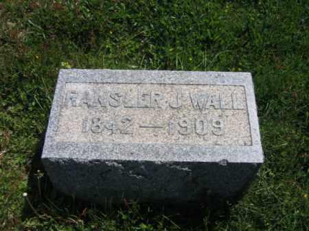 WALL, RANSLER - Wyoming County, Pennsylvania | RANSLER WALL - Pennsylvania Gravestone Photos