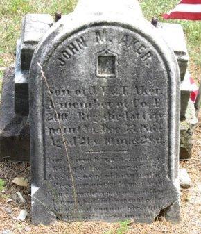 AKER (CW), JOHN M. - York County, Pennsylvania | JOHN M. AKER (CW) - Pennsylvania Gravestone Photos