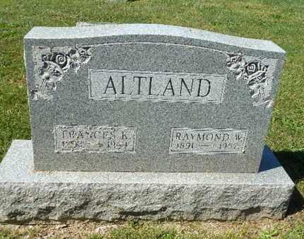 ALTLAND, RAYMOND W. - York County, Pennsylvania | RAYMOND W. ALTLAND - Pennsylvania Gravestone Photos