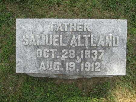 ALTLAND, SAMUEL - York County, Pennsylvania | SAMUEL ALTLAND - Pennsylvania Gravestone Photos