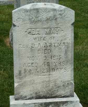 ARTMAN, IDA MAY - York County, Pennsylvania | IDA MAY ARTMAN - Pennsylvania Gravestone Photos