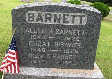 BARNETT (CW), ALLEN J. - York County, Pennsylvania | ALLEN J. BARNETT (CW) - Pennsylvania Gravestone Photos