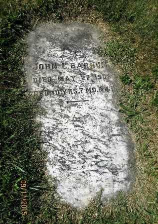 BARNUM, JOHN L - York County, Pennsylvania | JOHN L BARNUM - Pennsylvania Gravestone Photos