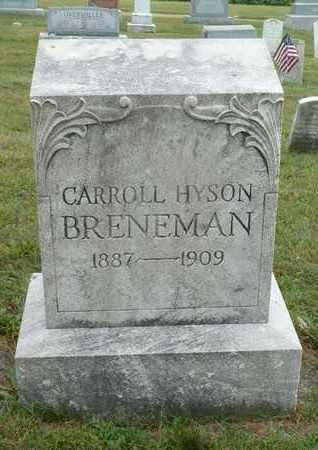 BRENEMAN, CARROLL HYSON - York County, Pennsylvania | CARROLL HYSON BRENEMAN - Pennsylvania Gravestone Photos