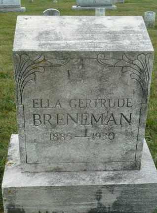 BRENEMAN, ELLA GERTRUDE - York County, Pennsylvania   ELLA GERTRUDE BRENEMAN - Pennsylvania Gravestone Photos
