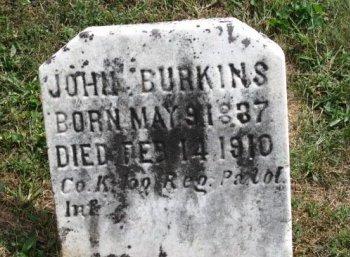 BURKINS (CW), JOHN - York County, Pennsylvania | JOHN BURKINS (CW) - Pennsylvania Gravestone Photos