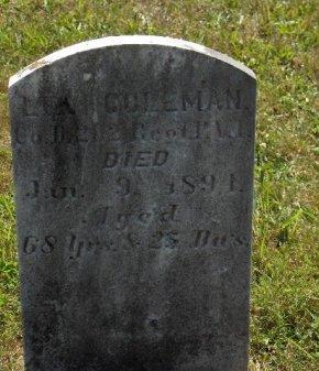 COLEMAN (CW), LEVI - York County, Pennsylvania | LEVI COLEMAN (CW) - Pennsylvania Gravestone Photos