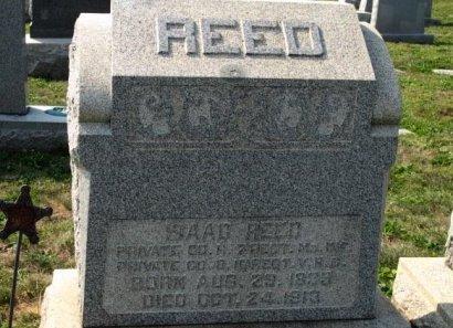 REED (CW), ISAAC - York County, Pennsylvania   ISAAC REED (CW) - Pennsylvania Gravestone Photos