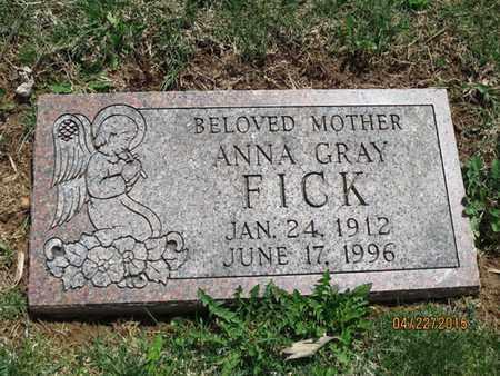 FICK, ANNA GRAY - York County, Pennsylvania | ANNA GRAY FICK - Pennsylvania Gravestone Photos