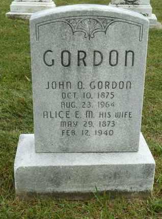 GORDON, ALICE E. M. - York County, Pennsylvania | ALICE E. M. GORDON - Pennsylvania Gravestone Photos