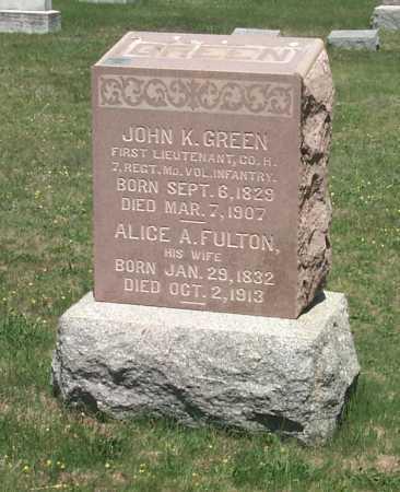 GREEN, JOHN K. - York County, Pennsylvania | JOHN K. GREEN - Pennsylvania Gravestone Photos