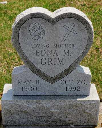 GRIM, EDNA M - York County, Pennsylvania | EDNA M GRIM - Pennsylvania Gravestone Photos