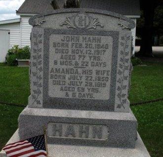 HAHN (CW), JOHN - York County, Pennsylvania | JOHN HAHN (CW) - Pennsylvania Gravestone Photos