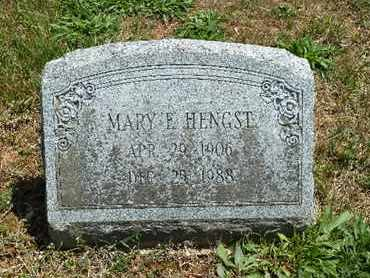 HENGST, MARY E - York County, Pennsylvania | MARY E HENGST - Pennsylvania Gravestone Photos