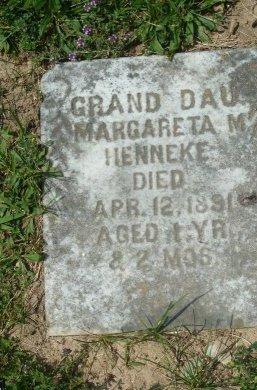 HENNEKE, MARGARETA M - York County, Pennsylvania | MARGARETA M HENNEKE - Pennsylvania Gravestone Photos