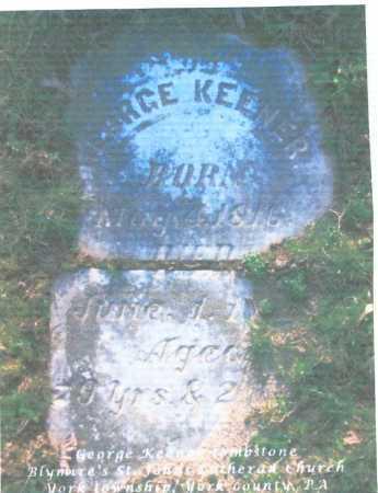 KEENER, GEORGE - York County, Pennsylvania | GEORGE KEENER - Pennsylvania Gravestone Photos