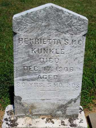 KUNKLE, HENRIETTA S.M.C. - York County, Pennsylvania | HENRIETTA S.M.C. KUNKLE - Pennsylvania Gravestone Photos