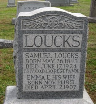 LOUCKS (CW), SAMUEL - York County, Pennsylvania | SAMUEL LOUCKS (CW) - Pennsylvania Gravestone Photos