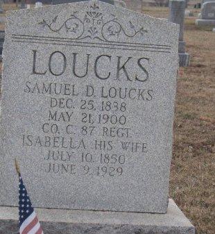 LOUCKS (LAUCK) (CW), SAMUEL D. - York County, Pennsylvania | SAMUEL D. LOUCKS (LAUCK) (CW) - Pennsylvania Gravestone Photos