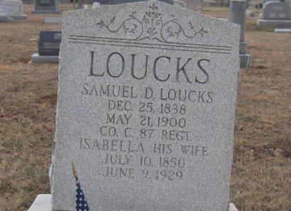 LOUCKS (LAUCKS) (CW), SAMUEL D. - York County, Pennsylvania | SAMUEL D. LOUCKS (LAUCKS) (CW) - Pennsylvania Gravestone Photos