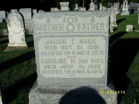 NACE, JACOB T - York County, Pennsylvania | JACOB T NACE - Pennsylvania Gravestone Photos