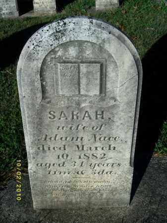 NACE, SARAH - York County, Pennsylvania   SARAH NACE - Pennsylvania Gravestone Photos