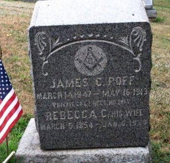 POFF (CW), JAMES C. - York County, Pennsylvania | JAMES C. POFF (CW) - Pennsylvania Gravestone Photos