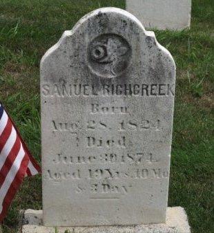 RICHCREEK (CW), SAMUEL - York County, Pennsylvania   SAMUEL RICHCREEK (CW) - Pennsylvania Gravestone Photos
