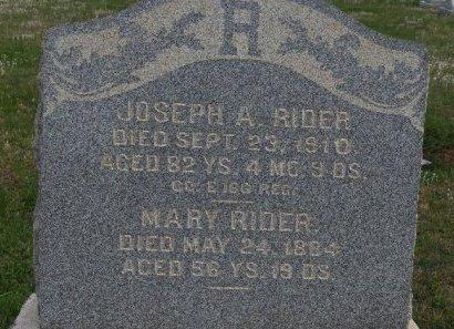 RIDER (CW), JOSEPH A. - York County, Pennsylvania | JOSEPH A. RIDER (CW) - Pennsylvania Gravestone Photos