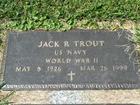 TROUT (WW II), JACK R. - York County, Pennsylvania | JACK R. TROUT (WW II) - Pennsylvania Gravestone Photos