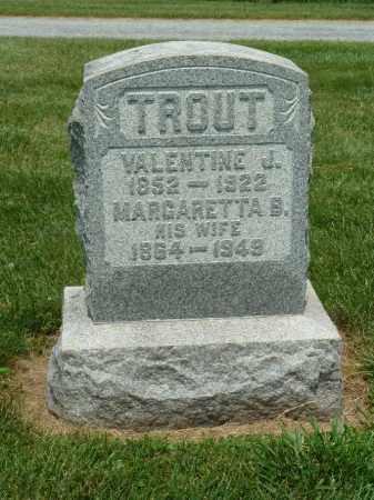 TROUT, MARGARETTA B. - York County, Pennsylvania | MARGARETTA B. TROUT - Pennsylvania Gravestone Photos
