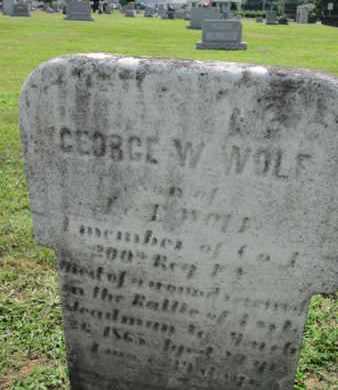 WOLF (CW), GEORGE W. - York County, Pennsylvania | GEORGE W. WOLF (CW) - Pennsylvania Gravestone Photos