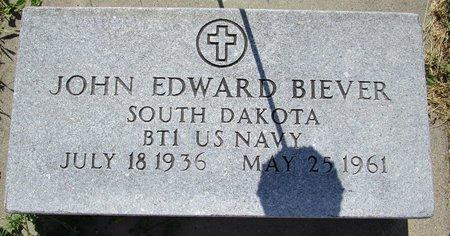 BIEVER, JOHN EDWARD - Beadle County, South Dakota   JOHN EDWARD BIEVER - South Dakota Gravestone Photos